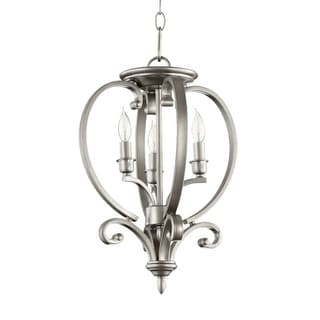 "Quorum International 6754-3 Bryant 3 Light 12.5"" Flushmount Convertible Ceiling Fixture"
