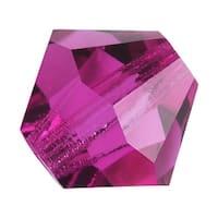 Preciosa Czech Crystal Beads 6mm Bicone 'Fuchsia' Pink (20)