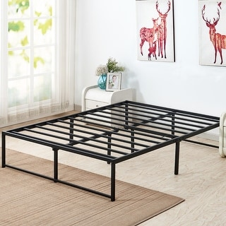 VECELO Metal Bed Frames 14 Inch Steel Slat Platform Storage Beds