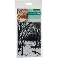 """Wintry Trail - Penny Black Cling Stamps 5""""X7"""""""