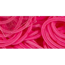 Pink - Mini Rubber Bands 300/Pkg W/12 Clips