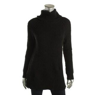 Lauren Ralph Lauren Womens Turtleneck Ribbed Knit Pullover Sweater - S