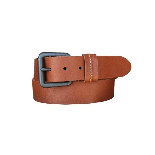 Lejon Western Belt Mens Ranchero Leather Bullet Tan