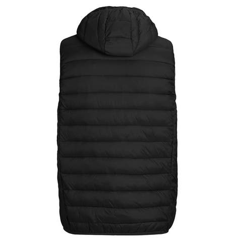 Men's Packable Lightweight Down Vest Outdoor Hooded Puffer Vest