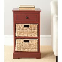 """Safavieh Carrie Red Storage Side Table - 15.9"""" x 13"""" x 27.6"""""""