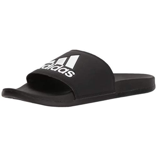 9c1d940b5fef4 Shop Adidas Men's Adilette Comfort Slide Sandal Black/White - Free Shipping  Today - Overstock - 27122456