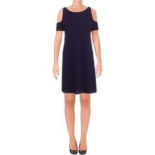 Lauren Ralph Lauren Womens Petites Casual Dress Jersey Cut Out