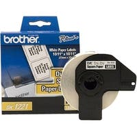 Brother DK1221 Brother Square Paper Label - 0.9  Inch Width x 0.9  Inch Length