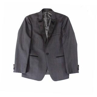 Calvin Klein NEW Gray Mens Size 40S Satin Trim Single Button Jacket