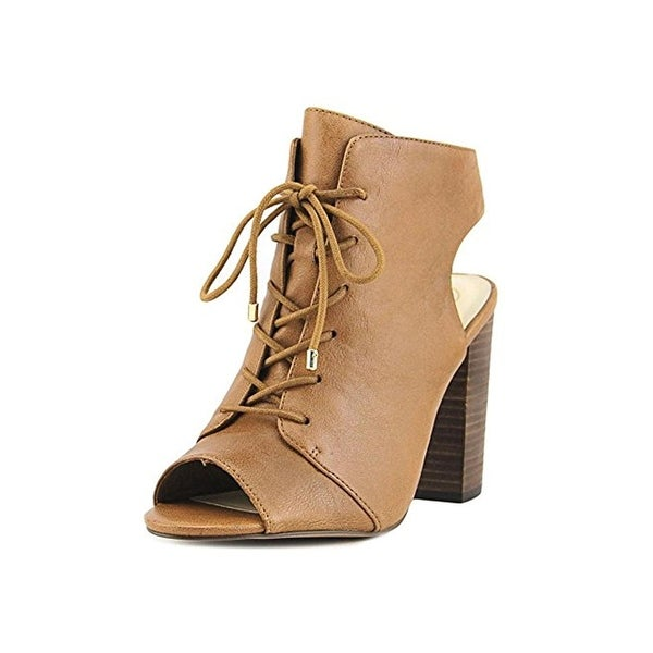 Jessica Simpson Womens Klaya Booties Leather Peep Toe