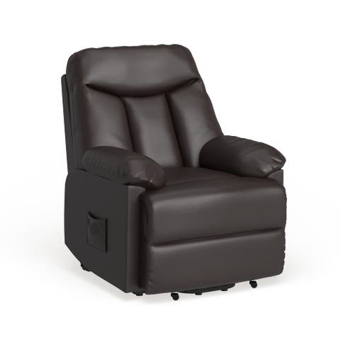 Copper Grove Bensheim Brown Leather Power Recline Chair