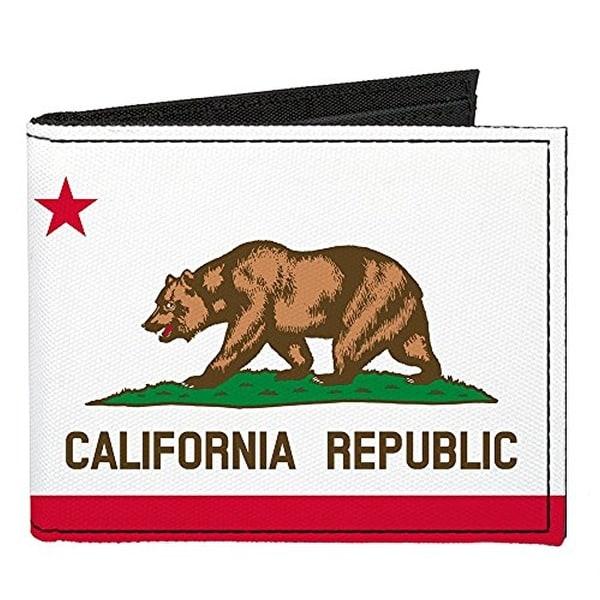Buckle-Down Canvas Bi-fold Wallet - California Flag Accessory