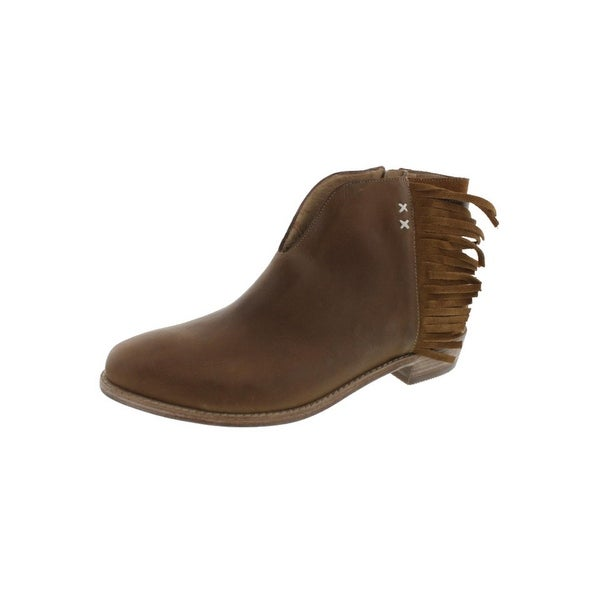 Koolaburra Womens Dallas Ankle Boots Leather Fringe