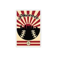 Arizona - Vintage MLB - 24x36 Gallery Wrapped Canvas Wall Art