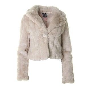 Lipsy Limited Womens Faux Fur Shawl Collar Coat - 12