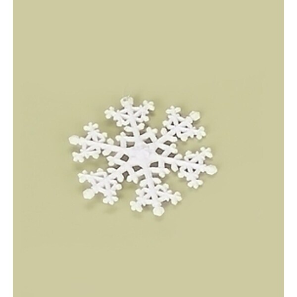 "4.25"" Tell a Story White Iridescent Glitter Snowflake Christmas Ornament"