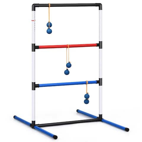 Ladder Ball Toss Game Set Bolas Score Tracker Carrying Bag - Multi