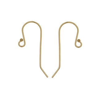 French Ear Wire, with 1.5mm Ball End 27x11mm, 2 Pieces, 14K Gold Filled