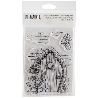 "49 & Market Clear Stamps 4""X6""-Gabi's Whimsical Door"