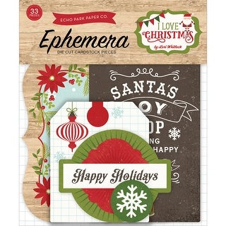 I Love Christmas Ephemera Cardstock Die-Cuts 33/Pkg-