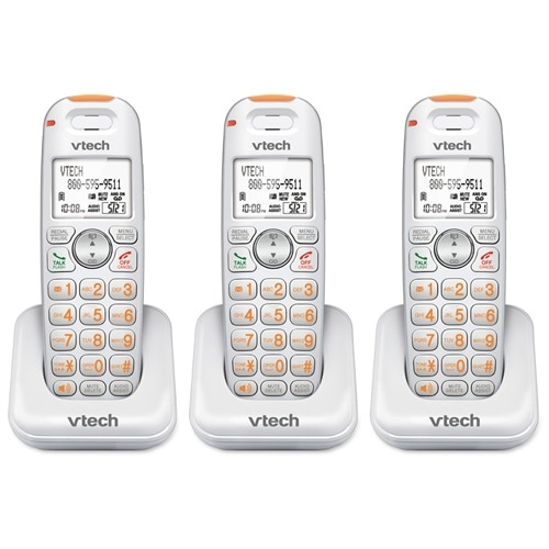 VTech SN6107 (3 Pack) Additional Cordless Handset/Charger for SN61x7 Phone