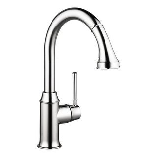 Hansgrohe 4215 Talis C Pull-Down Kitchen Faucet with High-Arc Spout, Magnetic Docking, & Locking Spray Diverter - Includes