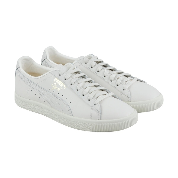 a258379d740 Shop Puma Clyde Natural Mens White Leather Lace Up Sneakers Shoes ...