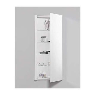 "Robern RC1636D4FP1 R3 16"" x 36"" x 4"" Plain Single Door Medicine Cabinet with Rev"