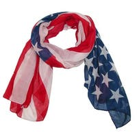 CTM® Women's Lightweight Sheer American Flag Print Scarf - One size