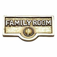 Switch Plate Tags FAMILY ROOM Name Signs Labels Brass   Renovator's Supply