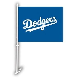 Fremont Die Inc Los Angeles Dodgers Car Flag With Wall Brackett Car Flag With Wall Brackett