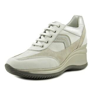 Geox Rachel Round Toe Synthetic Tennis Shoe