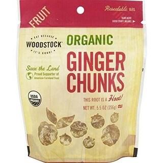 Woodstock Farms - Organic Ginger Chunks ( 8 - 5.5 OZ)