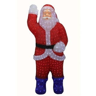 3' Lighted Commercial Grade Acrylic Santa Claus Christmas Display Decoration