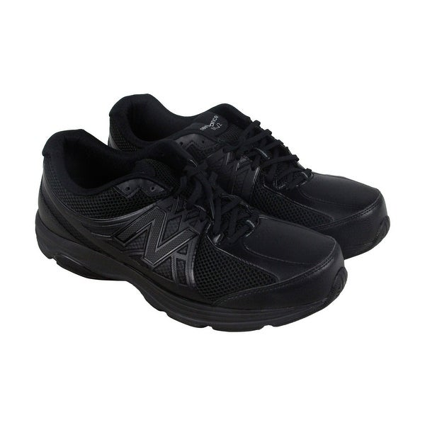 New Balance Marche Mens Black Synthetic & Mesh Athletic Lace Up Running Shoes