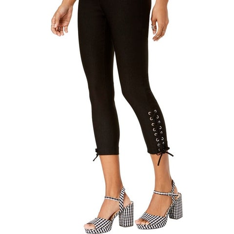 XOXO Womens Dancer Skinny Pants Lace-Up Cropped