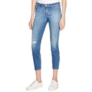 J Brand Womens Capri Jeans Denim Distressed