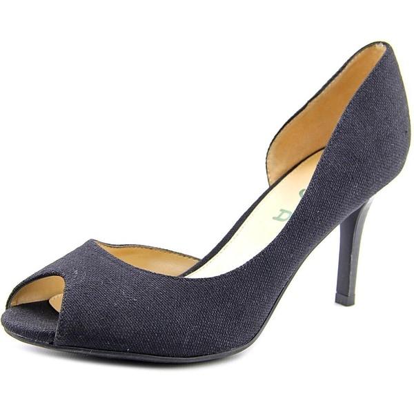 Unisa Jubilee 6 Women Peep-Toe Canvas Black Heels