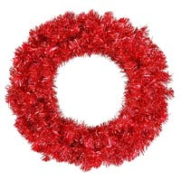 """30"""" Red Wreath 70Red Lts 260T"""