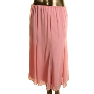 Alex Evenings Womens Chiffon Pull On A-Line Skirt