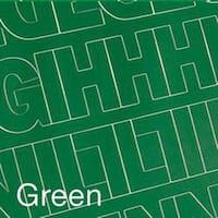 "Permanent Adhesive Vinyl Letters & Numbers 3"" 160/Pkg-Green"