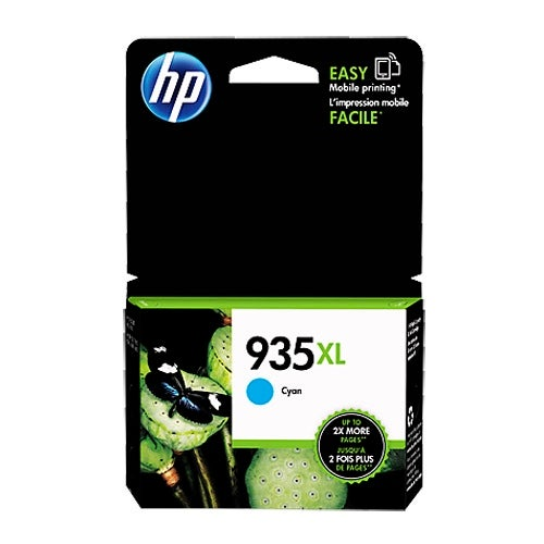 HP 935XL High Yield Cyan Original Ink Cartridge (C2P24AN (Single Pack)