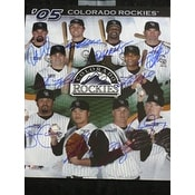 Signed Rockies Colorado 11x14 By the 2005 Colorado Rockies 10 signatures in all autographed