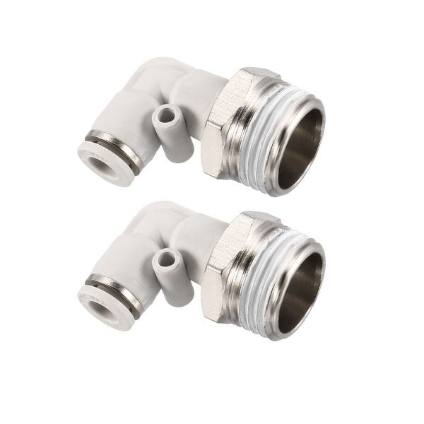 Straight Pneumatic Thrust for Quick Connect Connections Bulkhead Union 6mm Tube OD X 6mm Tube OD 2pcs