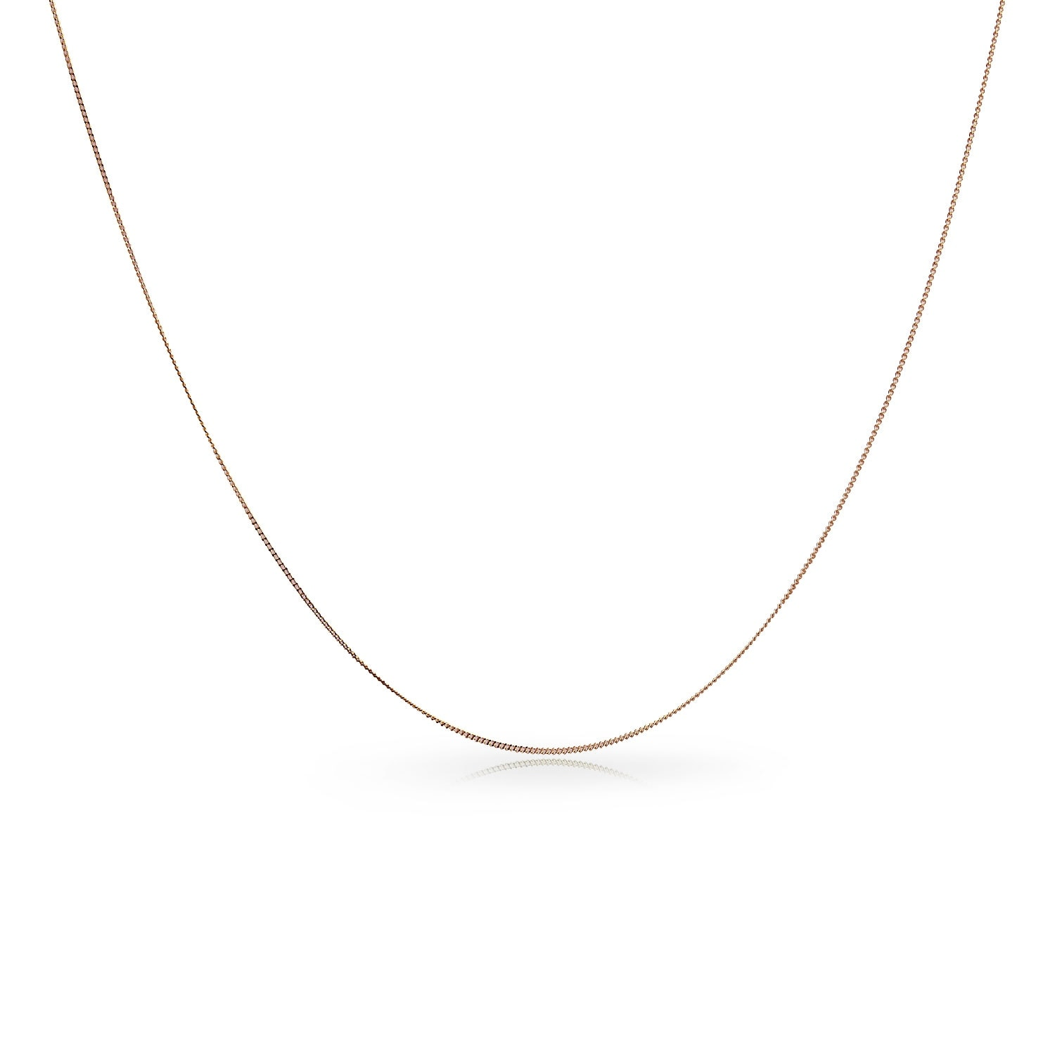 14k Solid White Gold 1.5mm Italy Wheat Chain  Necklace 16 18 20 22 24Inch