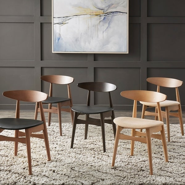 Norwegian Danish Tapered Dining Chairs (Set of 2) by iNSPIRE Q Modern. Opens flyout.