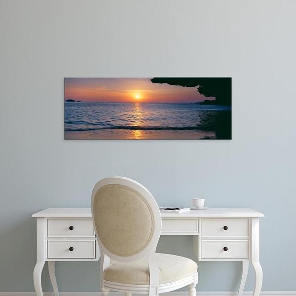 Easy Art Prints Panoramic Images's 'Sunset over the sea, Railay Beach, Krabi, Krabi Province, Thailand' Canvas Art