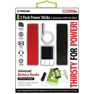 2Pack Battery Stick w Home Charger1.8amp