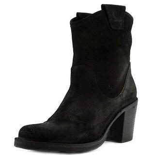Fiorentini + Baker Luna-15 Women  Round Toe Leather Black Ankle Boot