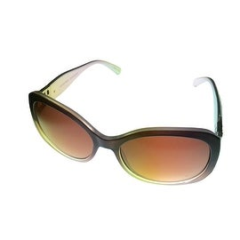 Ellen Tracy Womens Sunglass ET 527 1 Crystal Brown Modifed Square Gradient Lens